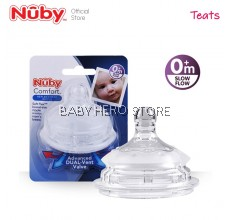 Nuby Comfort Silicone Bottle Replacement Nipple 1pc