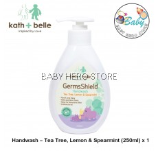 Kath + Belle Germs Shield Handwash - Tea Tree, Lemon & Spearmint (250ml)