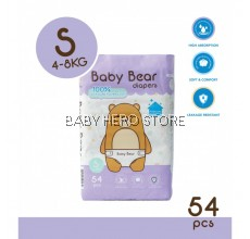 Baby Bear Tape Diapers Size S (54pcs)