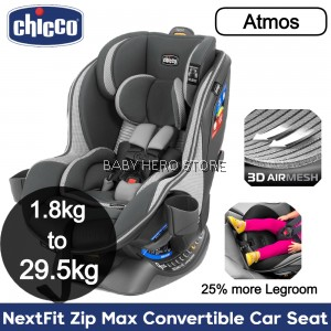 Chicco NextFit Zip Max Convertible Baby Car Seat (1.8kg to 29.5kg)