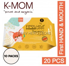 K-MOM First HAND & MOUTH Baby Wipes (20pcs x 10 Packs)