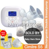 Cimilre S5 Rechargeable Double Electric Breast Pump (Funnel 28mm)