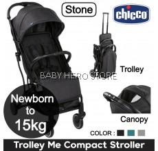 Chicco Trolley Me Compact Light Weight Travel Stroller (Newborn to 15kg)