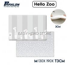 Parklon Pure Bubble Mat Baby Soft Playmat Extra Thickness (L130 x W190 x T3.0cm) Hello Zoo