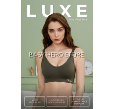 Shapee Luxe Nursing Bra - Premium Soft Fabric with Improved Non-Slip Straps (32B to 42G Cup) S / M / L / XL