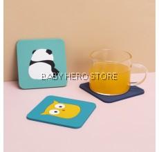 High Temperature Heat Insulation Silicone Cup Pad / Anti-slip Coaster, Anti-scalding Soft Rubber Coaster