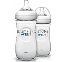 Avent Natural Bottle 11oz / 330ml Twin Pack