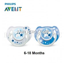 Philips Avent Soother Night Time (6-18 Months) - Blue