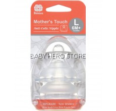 SIMBA MOTHER'S TOUCH WIDE NECK CROSS HOLE ANTI-COLIC NIPPLE L - 2PCS