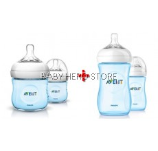 COMBO DEAL Avent Natural Bottle 4oz/125ml Twin Pack + Avent Natural Bottle 9oz/260ml Twin Pack