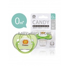 SIMBA CANDY THUMB SHAPED PACIFIER-GREEN (0+M)