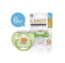 SIMBA CANDY THUMB SHAPED PACIFIER-GREEN (6+M)