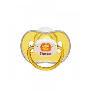 SIMBA CANDY THUMB SHAPED PACIFIER-ORANGE (6+M)