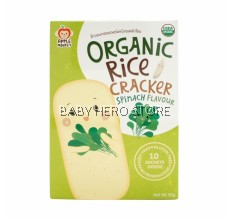 Apple Monkey Organic Rice Cracker - Spinach