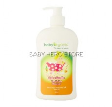 Baby Organix Extra Gentle Top To Toe Cleanser Rose Oil 400ml