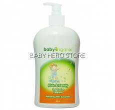 Baby Organix Kids & Family Top To Toe Cleanser Cucumber 400ml