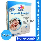 Bubbles Disposable Honeycomb Breast pads 60+12
