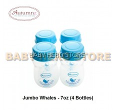 Autumnz Wide Neck Breast Milk Storage Bottle 7oz (4 bottles)