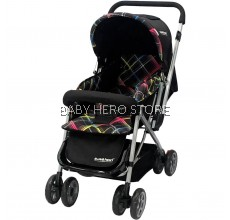 Sweet Heart Paris ST50 Stroller (Black) with 8pcs Wheels and Reversible Handlebar