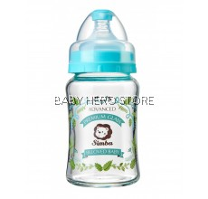 Simba Crystal Romance Wide Neck Glass Feeding Bottle (Herb) - 180ml