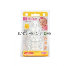Piyo Piyo - Anti Colic Wide Neck Nipple Size XL - 3pcs