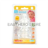 Piyo Piyo - Anti Colic Wide Neck Nipple Size L - 3pcs