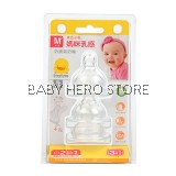 Piyo Piyo - Anti Colic Wide Neck Nipple Size M - 3pcs