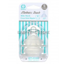 SIMBA MOTHER'S TOUCH WIDE NECK CROSS HOLE ANTI-COLIC NIPPLE S - 2PCS