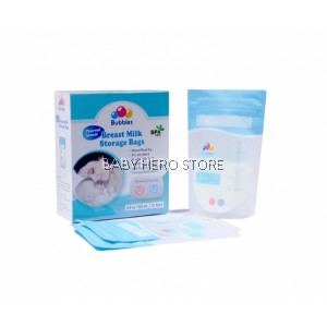 Bubbles Thermal Sensor Double Ziplock Breastmilk Storage Bag 3.4oz (25pcs)