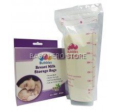 Bubbles Double Zip-Lock Breast Milk Storage Bag (50 Bags) 12oz