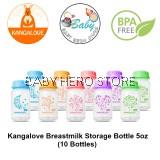 Kangalove Breastmilk Storage Bottle 5oz - 10 Bottles (NEW Design)