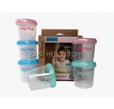 Baby Planet - Breastmilk and Food Storage Cup 180ml/6oz (4 Cups)