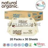 Natural Organic - Premium Embossing Cap Type Travel Pack (30 Sheets) - 20 Packs
