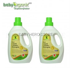 Baby Organix - I Love Tree Eco Liquid Laundry Detergent (1800ml) - 2 Bottles