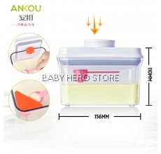 Ankou Air Tight Container with Scraper 1000ml (Rectangle) / Milk Powder Container
