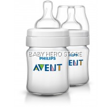 Philips Avent Classic Plus Feeding Bottle 4oz/125ml (Twin)