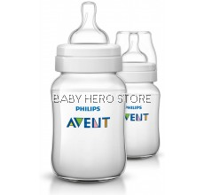 Philips Avent Classic Plus Feeding Bottle 9oz/260ml (Twin)