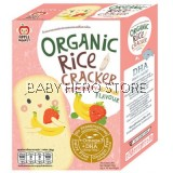 Apple Monkey Organic Rice Cracker 30g (Strawberry Banana)​